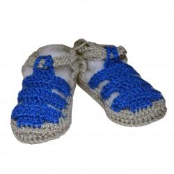 Escarpin Sandalia Azul
